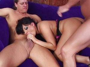 Eva Angelina plus two cocks