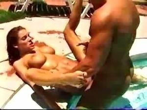 Hot babe Bonita Saint gets fucked by the pool
