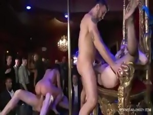 Sexy Kagney and her girlfriends entertain men at the bachelor party