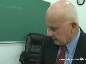 Student Learns A Trick Or Two From Horny Old Teacher
