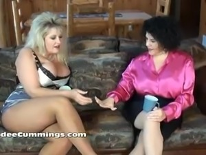 Horny bigtitted cougars BBC threesome