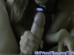 Amateur girlfriend gives her bf a blowjob and gets fucked in this POV bedroom...