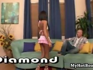 Lexi Diamond is a beautiful  Latina teen who takes