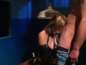 Interrogation turns into a hardcore fuck with kinky girl