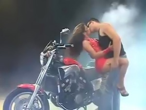 Gorgeous Brazilian fucked on Bike