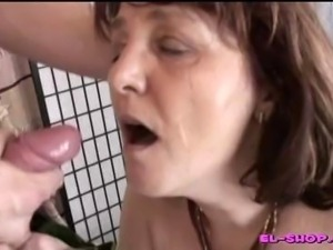 Busty mature European redhead satisfies!