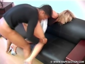 Blonde hottie gets abducted and ... free