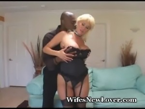 Voluptuous Blonde Fucks Black F ... free