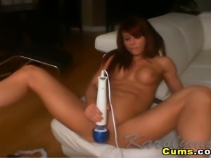 Watch this hot babe rocking her toy like riding a hard erect cock! and...