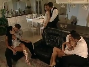Steamy group sex session
