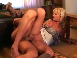 Blonde MILF with pierced pussy gets pounded till facial