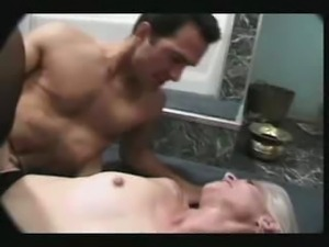 Blonde anal with facial