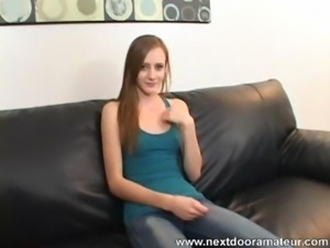 Cute Red Head Teen First Casting