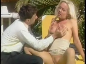 German Pornstar Kelly gets layed in two languages