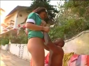 Brazilian Maria is a big booty maid - cum shot