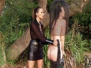 Lesbian punished by her Mistress