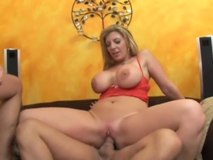 33 year old blonde milf with fake 34E tits and a 34 inch cottage cheese ass...