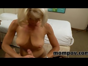 blonde milf takes a big young cock