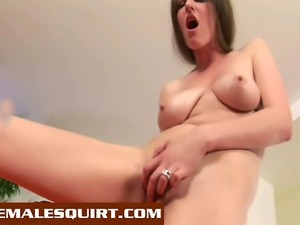 Two hot babes fill their pussy and asshole with toys until they squirt...