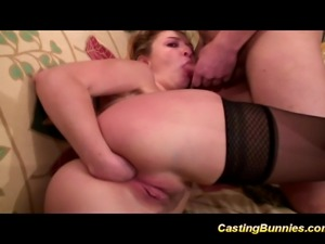 Casting bunny fucking and sucking her boyfriend's cock