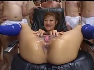 Lots Of Guys Cum On Her Asian Pussy asian cumshots asian swallow japanese...