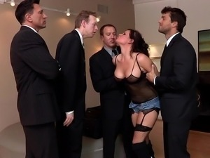 Men in black gangbang