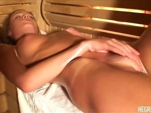 Nika in the Sauna