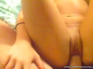 Homemade amateur couple fucking hardcore in their bedroom