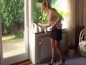 Long legged teen with tight body in action