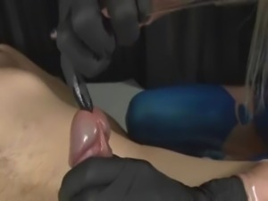 Urethra fucking by latex dominatrix free