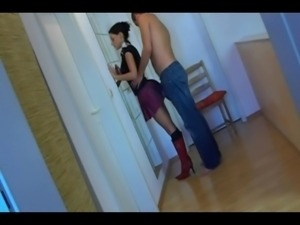 AMATEUR - Horny Cheating Brunette Wife
