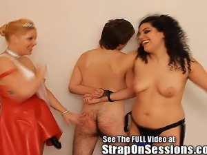 Mistress Sarah and the strapon princess give Griffin what he really deserve,...