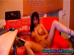 Perfect body on a goth horny cam girl part1