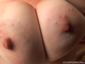 Trashy old whore sucks and fucks another dude who cums all over her lovely...