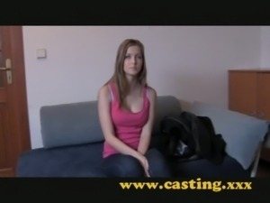Casting - Teen gets her first creampie free