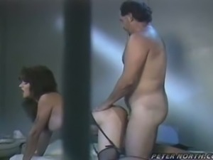 Gorgeous brunette prisoner pounded by fat daddy jail guard