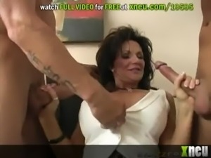 Horny Milf And Her Husband Settle Their Divorce Paper With A Threesome free