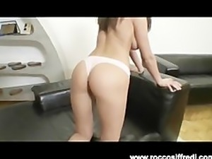 Euro Girl Plays With Her Pussy for Rocco Siffredi