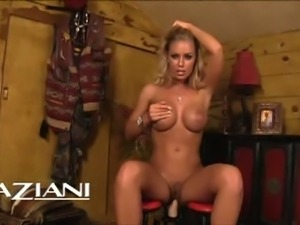 Busty nicole aniston rides plastic cock