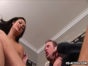 Half Asian slut Angelina Valentine hardcore fucking! free