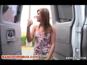 Try To Turn A Bi Lesbian Straight With Some Dick On BangBus Today free