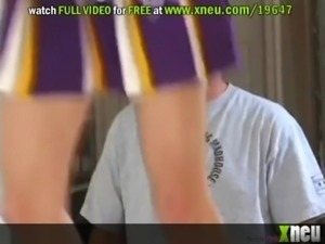 Licking And Banging A Sexy Cheerleader's Sweet Pussy free