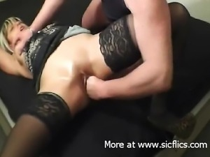My slut girlfriend gets ready to go to a night club but i decided to fist...