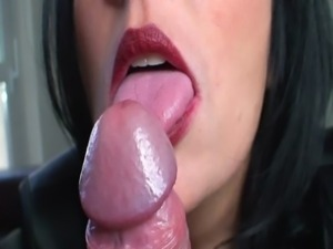 slow lipstick blowjob free