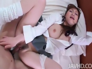 Big titty Yukina finds her tits squeezed