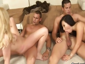 Lexi Belle and Asa Akira hardcore group sex