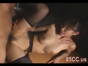 Mosaic: Big tits teacher fucks with student