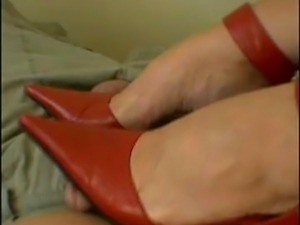 Mistress Arletta Red High Heels Foot Tease