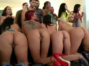 Five professional asses in a dorm
