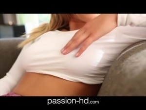 Passion-HD Natural tits girl takes it doggystyle hard free